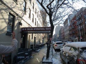 ニューヨーク宿に到着