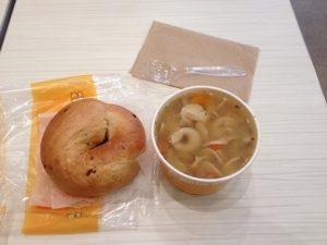 ワシントンDCで食べたスープとベーグル