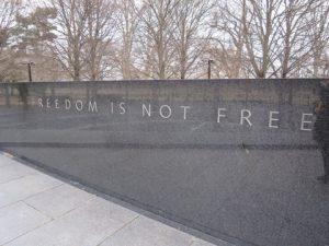 ワシントンDCにある石碑
