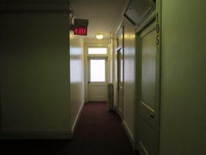 エルパソのホテルの廊下